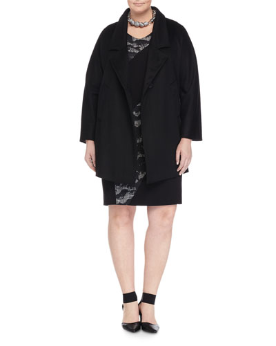 Nobile Wool One-Button Jacket, Houndstooth-Panel Sheath Dress & Lucilla Geometric Ball Necklace, Women