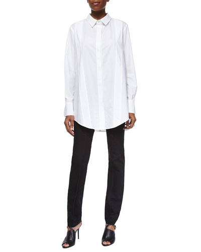 Tailored Poplin Tunic & Stretch Seamed Legging Pants