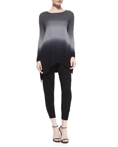 Ombre Cashmere Tunic Sweater & Stretch Cashmere-Blend Sweatpants