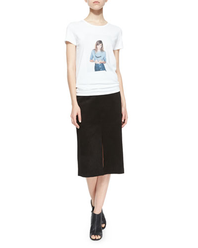 Selfie Jersey Tee & The Ortiz Suede Skirt
