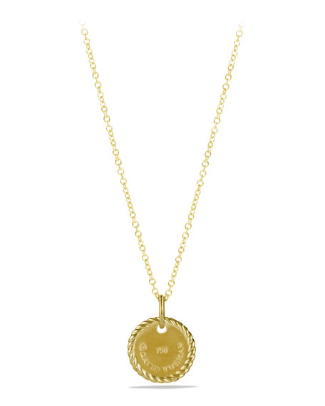 """D"" Pendant with Diamonds in Gold on Chain"