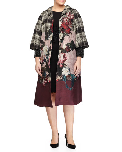 Tazzina Printed Organza Coat & Dolomiti Beaded Sheath Dress, Women's