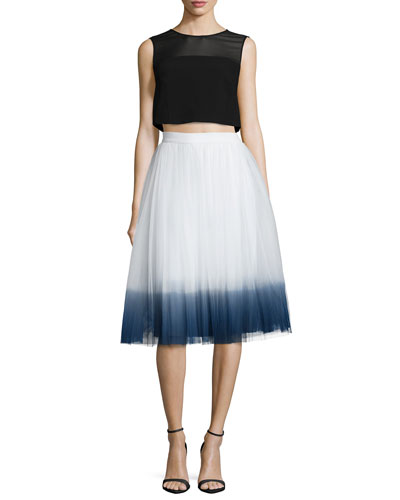 Juggler Sleeveless Crop Top & Sweet Pea Ombre Skirt