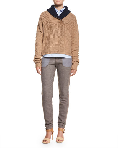 Fancy Stitch Shawl-Collar Sweater, Oxford Button-Down Shirt & Cool Tailoring Relaxed Pants