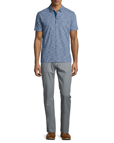 Rapino Slub Short-Sleeve Polo Shirt & Flat-Front Trousers