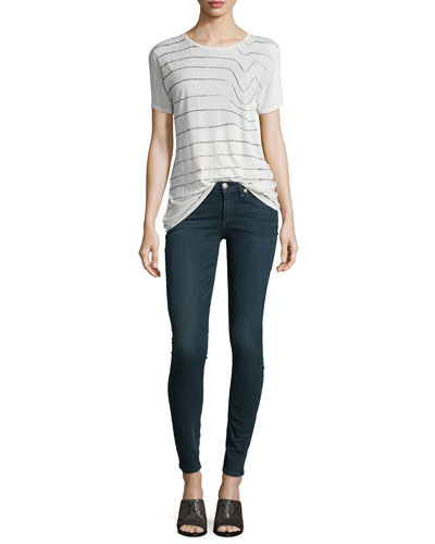 Concert Round-Neck Short-Sleeve Tee & Low-Rise Skinny-Leg Jeans