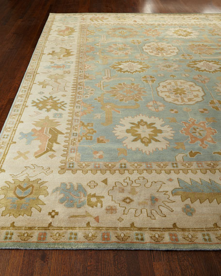 Exquisite Rugs Lunden Oushak Rug, 6' x 9'