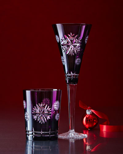 Snowflake Wishes Amethyst Glassware