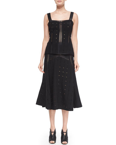 Redfield Perforated Cami Top & Blake Midi Skirt