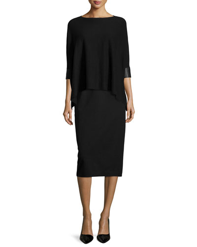 Fisher Project Cashmere Box Top & High-Waist Ponte Pencil Skirt