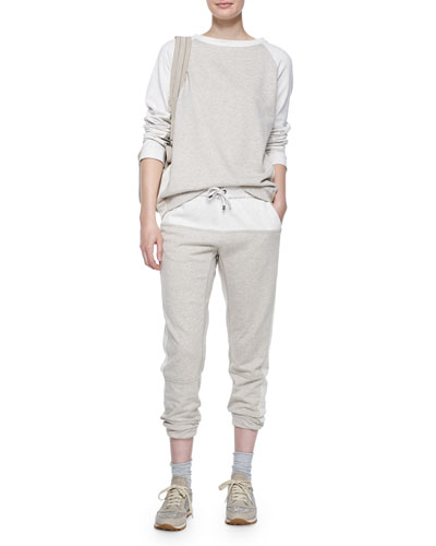 Long-Sleeve Colorblock Spa Sweatshirt & Pants