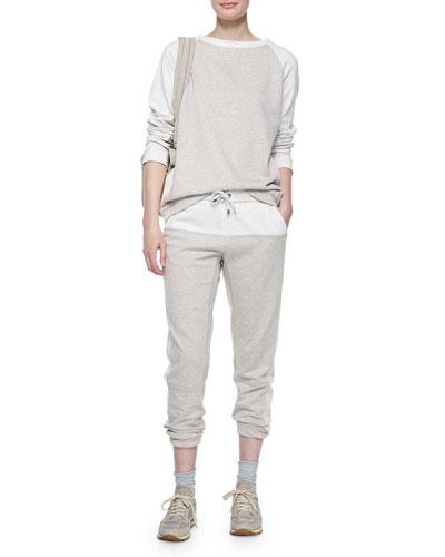 Long-Sleeve Colorblock Spa Sweatshirt & Pants