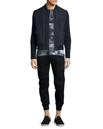 Brookside Quilted Tech Jacket, Boyton Printed Short-Sleeve Tee & Ashdown Tapered Moto Sweatpants
