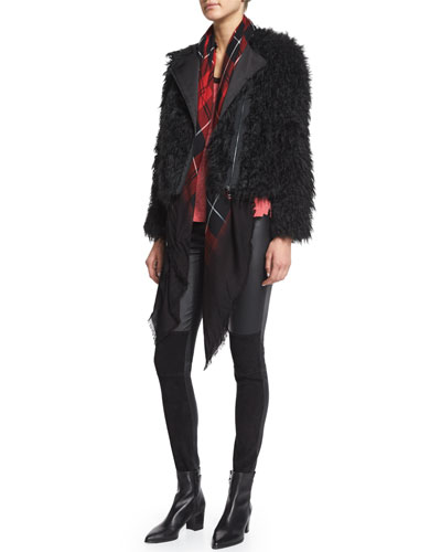 Vianna Faux-Fur Zip Jacket, Pharly Leather Deluxe Pants & Scotty Plaid Scarf