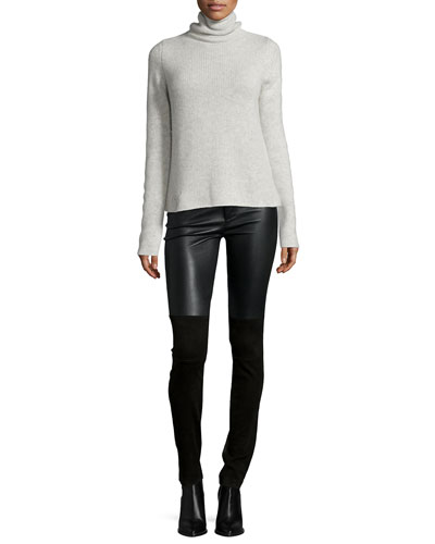 Crome Deluxe Cashmere Turtleneck Sweater & Pharly Leather Pants