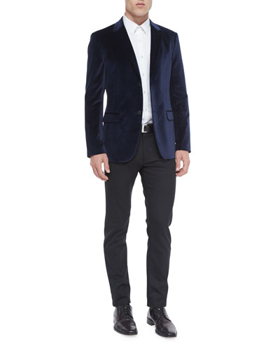 Rylan Velvet Two-Button Sport Coat, Sylvain Textured Long-Sleeve Shirt & Raffi Straight-Leg Pants