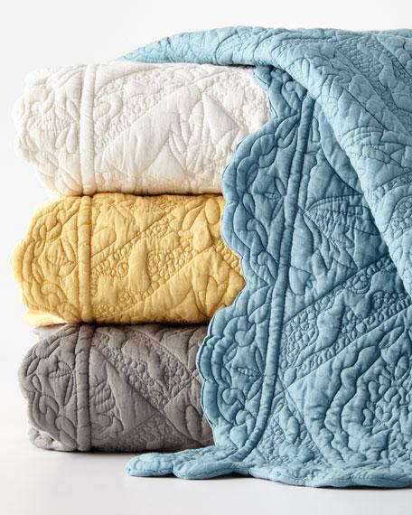 European Monterey Solid-Color Sham