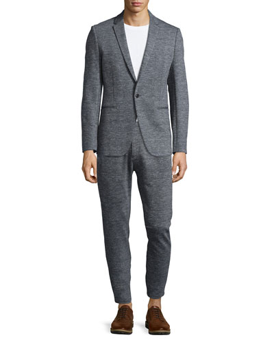 Sterling Heathered-Knit Sport Coat & Pier Heathered-Knit Sweatpants