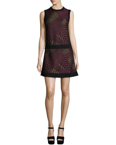 Metallic Web Sleeveless Top & Flared Skirt