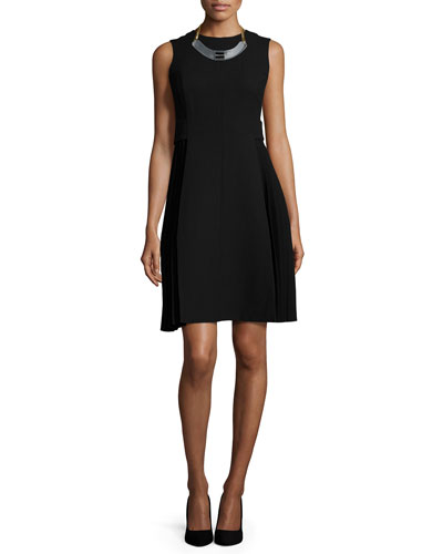 Lafayette Designer Clothing For Women Doria Sleeveless Pleated Dress