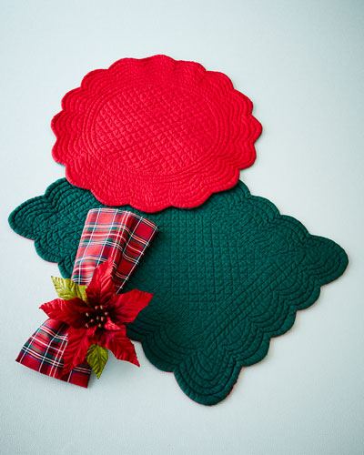Red & Green Table Linens