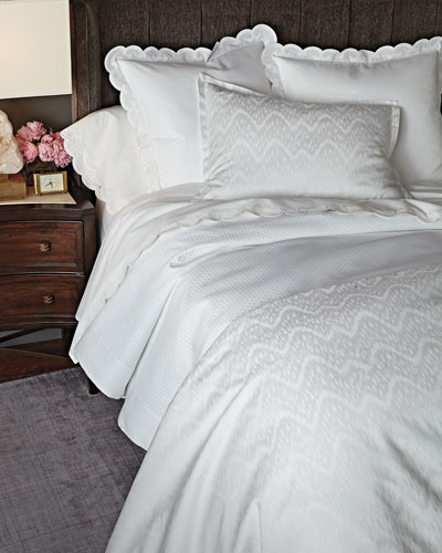 500TC Scallop-Applique Bedding