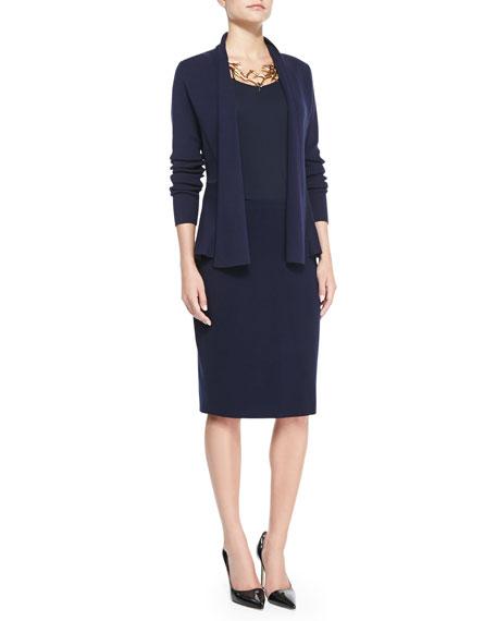 Eileen Fisher Silk-Cotton Straight Skirt