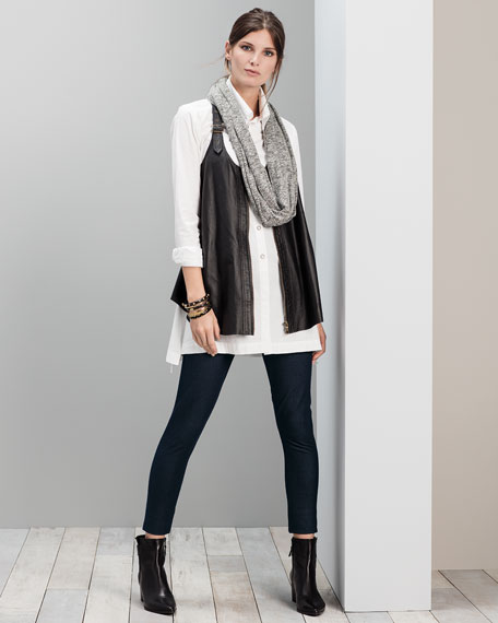 Upstage Perforated Leather Vest