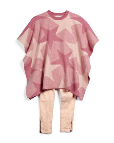 Agnes Star Poncho & Twinkle Skinny Jeans