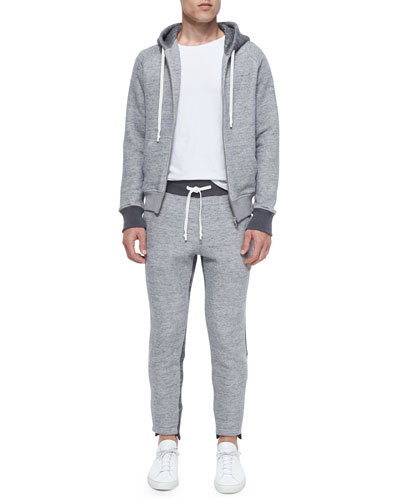 Knit Zip-Up Hoodie & Drawstring Knit Sweatpants
