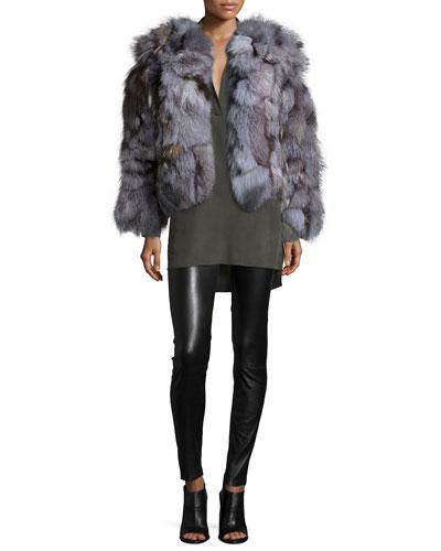 Cayle Fur Coat, Joleen Top & Lamb Leather Leggings