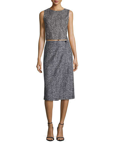 Pagia Sleeveless Crop Top & Gantrima K. Pencil Skirt