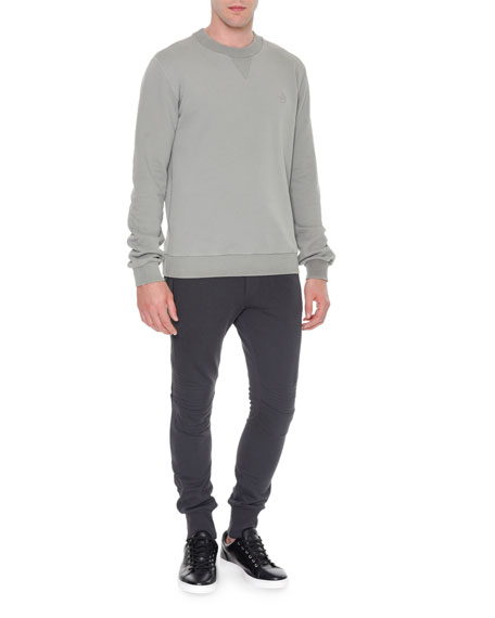 Dolce & Gabbana Biker Knit Sweatpants, Gray