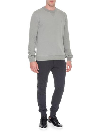 Dolce & Gabbana Biker Knit Sweatpants, Gray