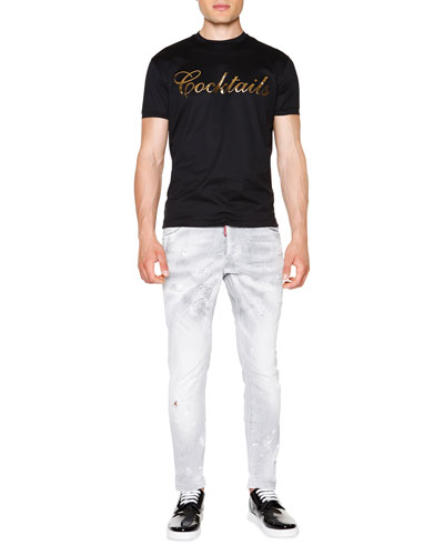 Dsquared2 Cocktail Graphic Knit Tee & Cool Guy
