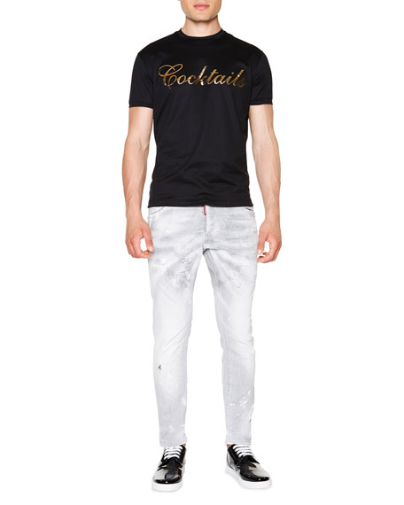Dsquared2 Cool Guy Distressed Skinny Jeans, Gray