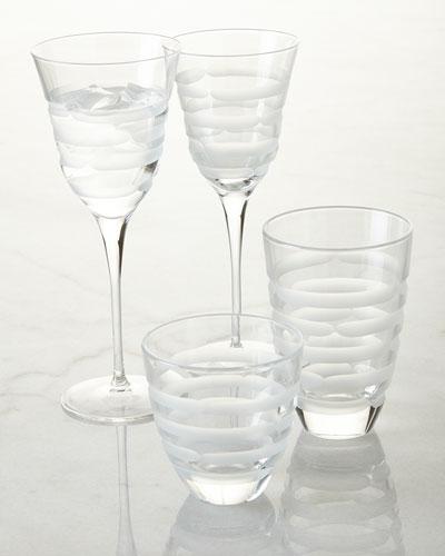 Optical Swirl Glassware