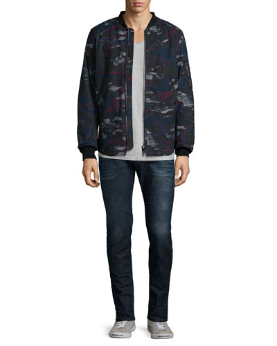 Dark Camo-Print Padded Jacket, T-Tossik Short-Sleeve Tee & Sleenker Skinny-Leg Denim Jeans
