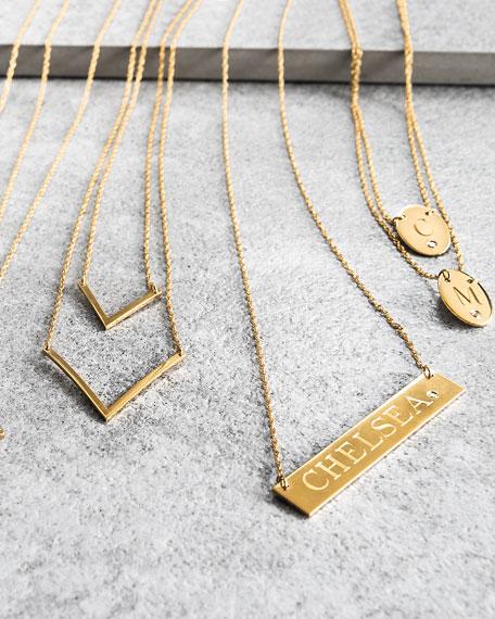 Jennifer ZeunerHarley Personalized Diamond Bar Necklace
