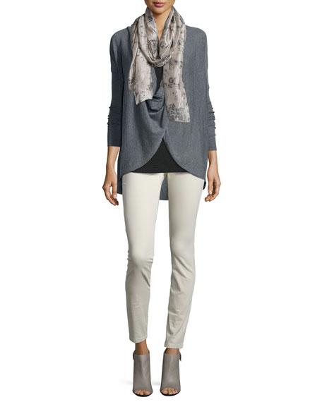 Eileen Fisher Long-Sleeve Jersey Cozy Tee, Charcoal