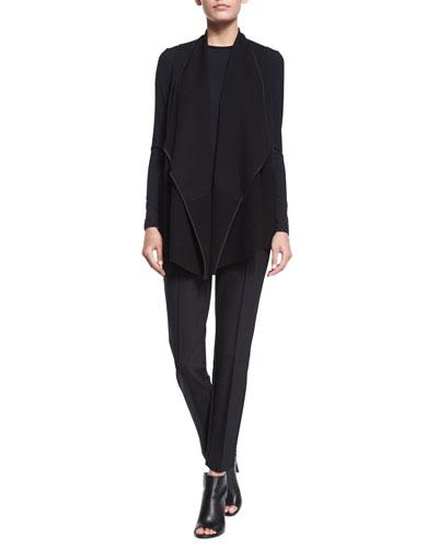 Cascade Vest W/ Wool Trim, Long-Sleeve Jersey Tee & City Slim Pintucked Pants