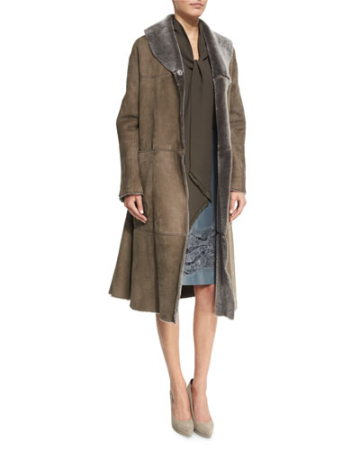 Lafayette 148 New York Hudson Lamb Fur Coat,