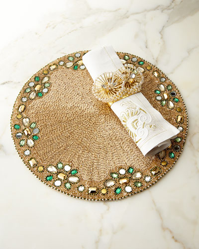 Jaipur Placemat, Baroque Napkin, & Double Burst Napkin Ring