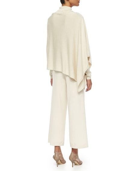Silk-Cashmere Long-Sleeve Turtleneck