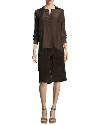 Le High-Low Popover Tunic & Le Gaucho Cropped Pants