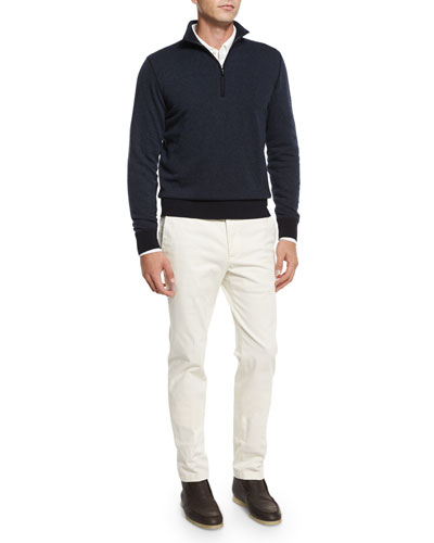 Roadster Cashmere Half-Zip Sweater, Andre Long-Sleeve Polo Shirt & Four-Pocket Cotton-Stretch Jeans