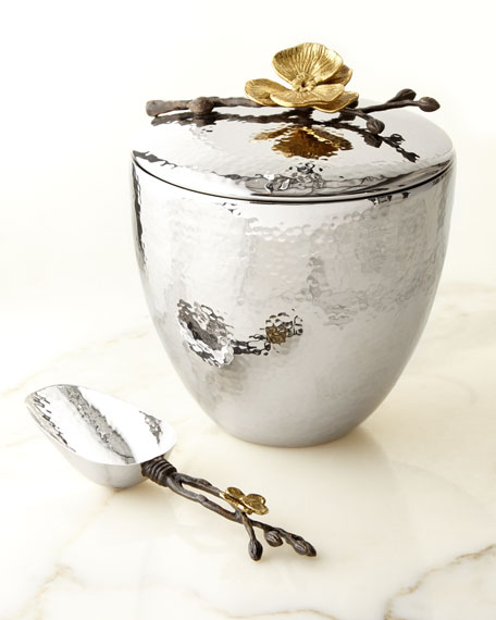 Michael Aram Gold Orchid Ice Bucket