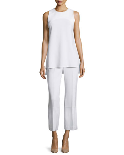 Parieom Sleeveless Jewel-Neck Top & Laleenka Straight-Leg Culottes