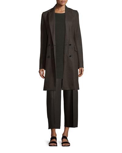 Irma K Flannel Coat, Molinia Cashmere Sweater & Raoka Jersey Flannel Culottes