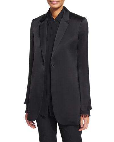 Dalingwood One-Button Splendor Jacket & Niteesh Long-Sleeve Top